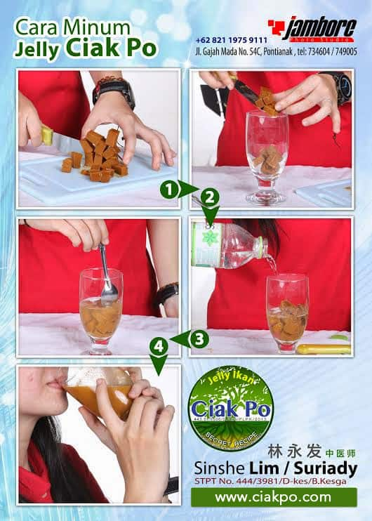 cara minum ciak po jelly