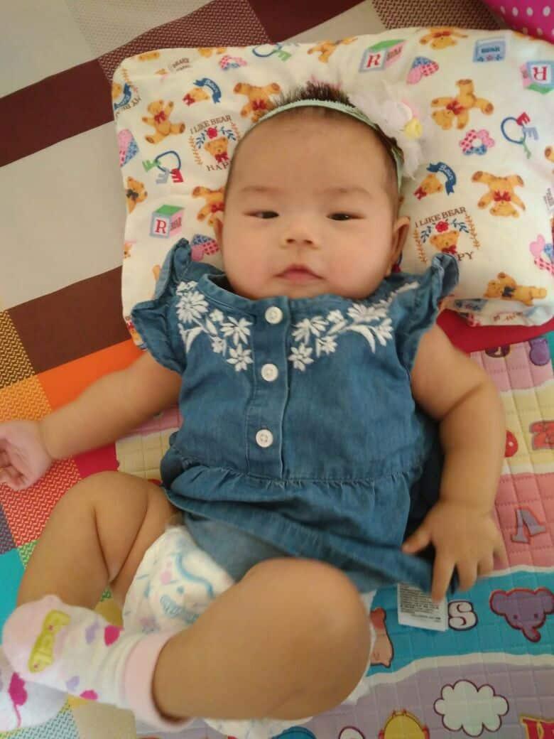 Baby Heidi umur 3,5 Bulan