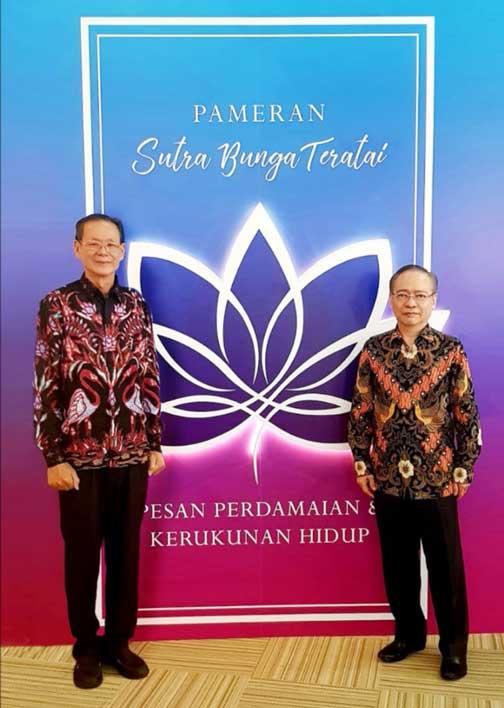 Bersama Ketum Soka Gakkai Indonesia Petter Nurhan